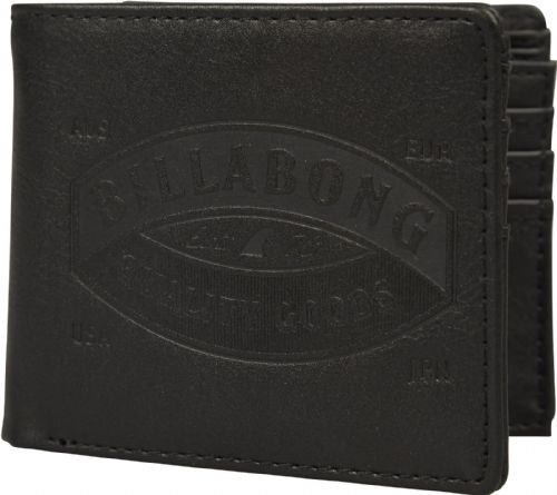 BILLABONG MENS WALLET.JUNCTION FAUX LEATHER BLACK CARD COIN NOTE PURSE 8W M01 19